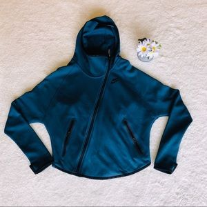 NIKE blue hooded zip up jacket SIZE S